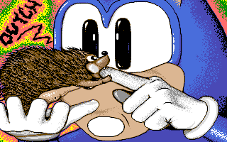 Sonic meets the hedgehog